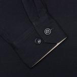 Мужская куртка анорак Woolrich Woolen Mills Anorak Seersucker Navy фото- 4
