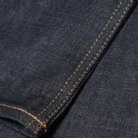 Мужские джинсы Evisu 2017 Carrot Fit Raw Selvedge Jeans Ecru фото- 5