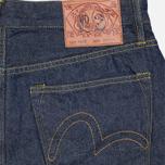 Мужские джинсы Evisu 2017 Carrot Fit Storm Wash Jeans Ecru фото- 1
