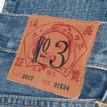Мужские джинсы Evisu 2017 Carrot Fit Vintage Wash Selvedge Jeans Ecru фото- 3