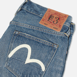 Мужские джинсы Evisu 2017 Carrot Fit Vintage Wash Selvedge Jeans Ecru фото- 1