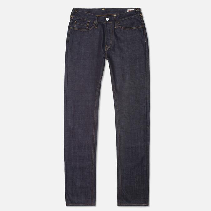 Мужские джинсы Evisu Genes 2020 Seagull Slim Fit Raw Jeans Indigo