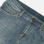 Женские джинсы Carhartt WIP W' Cropped Galena Stretch Blue Fray Washed фото- 3