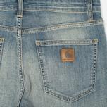 Женские джинсы Carhartt WIP W' Cropped Galena Stretch Blue Fray Washed фото- 1
