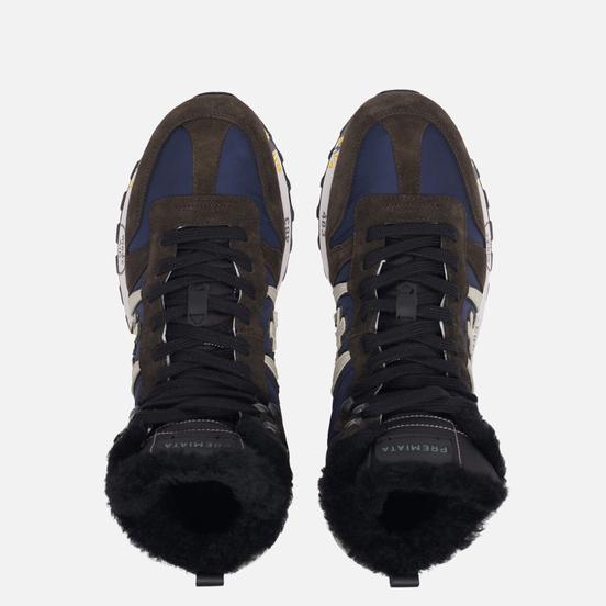 Мужские кроссовки Premiata Jeff 4274 Navy/Brown