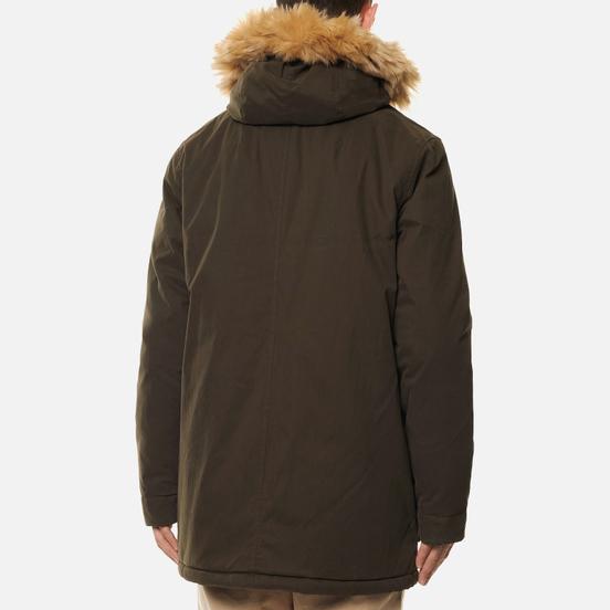 Мужская куртка парка Lyle & Scott Winter Weight Microfleece Lined Trek Green