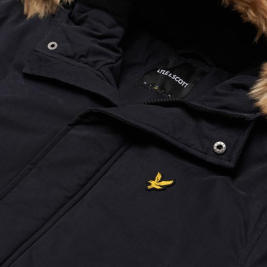 Мужская куртка парка Lyle & Scott Winter Weight Microfleece Lined Dark Navy
