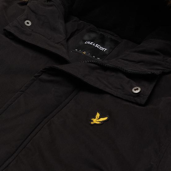 Мужская куртка парка Lyle & Scott Winter Weight Microfleece Lined Jet Black