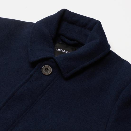 Мужское пальто Lyle & Scott Classic Wool Mac Dark Navy