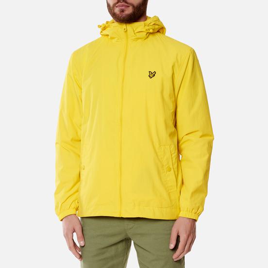 Мужская куртка ветровка Lyle & Scott Zip Through Hooded Buttercup Yellow