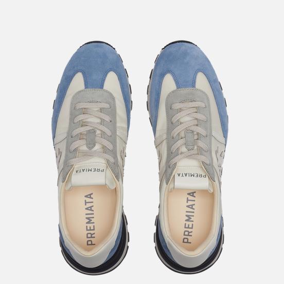 Мужские кроссовки Premiata Johnlow 5181 Blue/Cream White