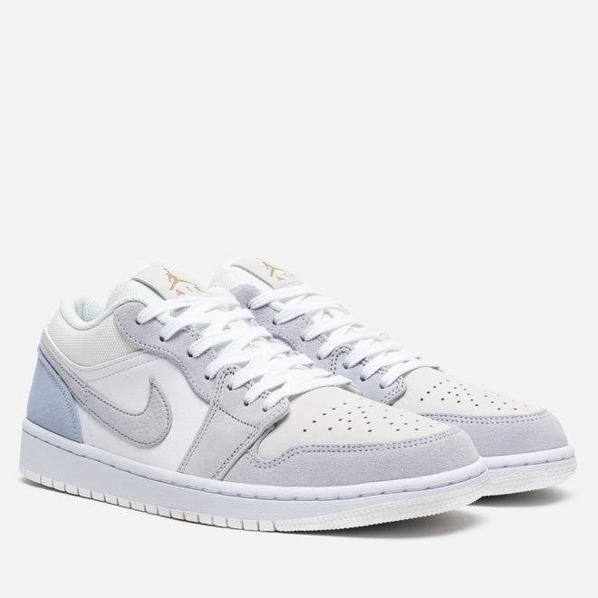 Мужские кроссовки Jordan Air Jordan 1 Low White/Sky Grey/Football Grey