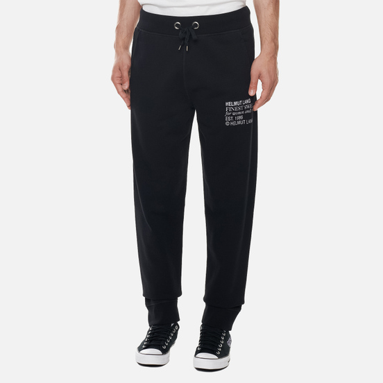 Мужские брюки Helmut Lang Finest Emblem Basalt Black
