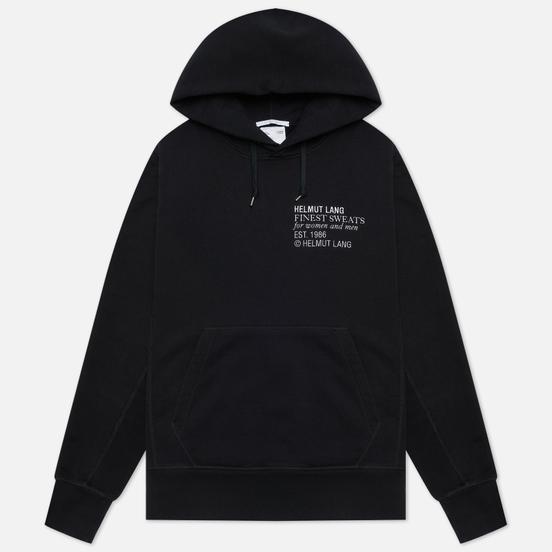 Мужская толстовка Helmut Lang Finest Emblem Standard Hoodie Basalt Black
