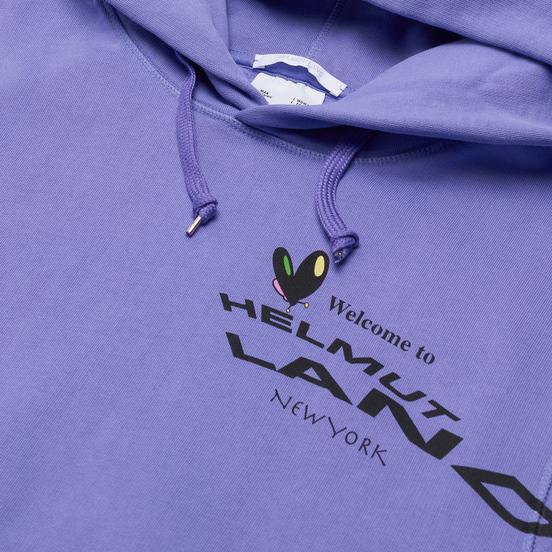 Мужская толстовка Helmut Lang Helmut Land Map Standard Hoodie Voltaic Purple