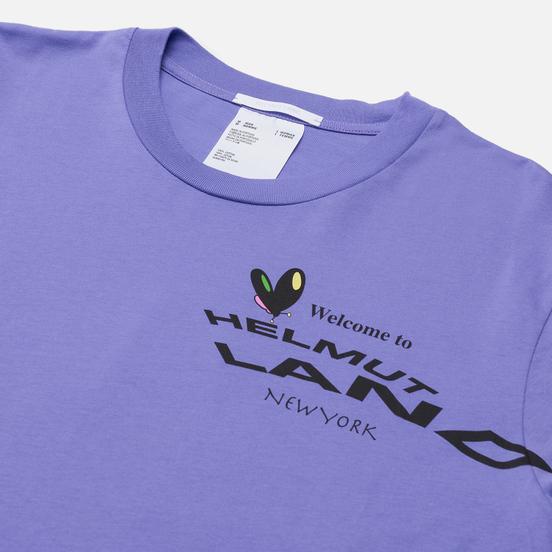 Мужская футболка Helmut Lang Helmut Land Map Standard Voltaic Purple