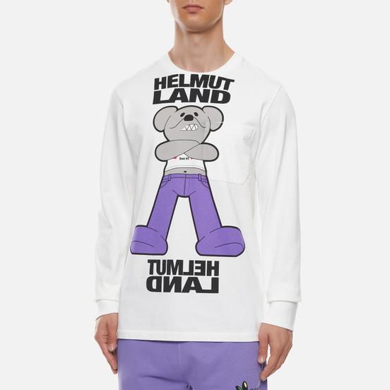 Мужской лонгслив Helmut Lang Helmut Land Mascot Chalk White