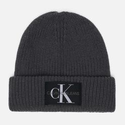 Шапка Calvin Klein Jeans Logo Beanie Charcoal