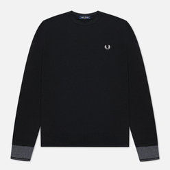 Мужской свитер Fred Perry Contrast Cuff Crew Neck Black
