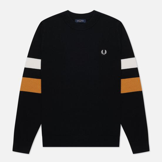 Мужской свитер Fred Perry Tipped Sleeve Black