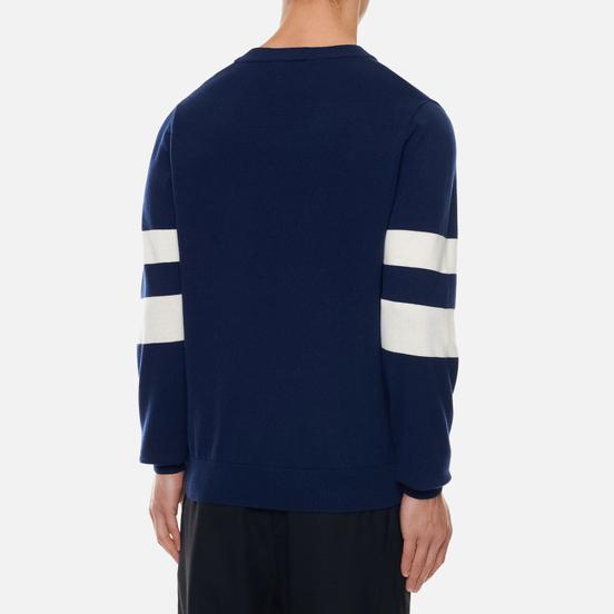 Мужской свитер Fred Perry Tipped Sleeve V-Neck Dark Carbon