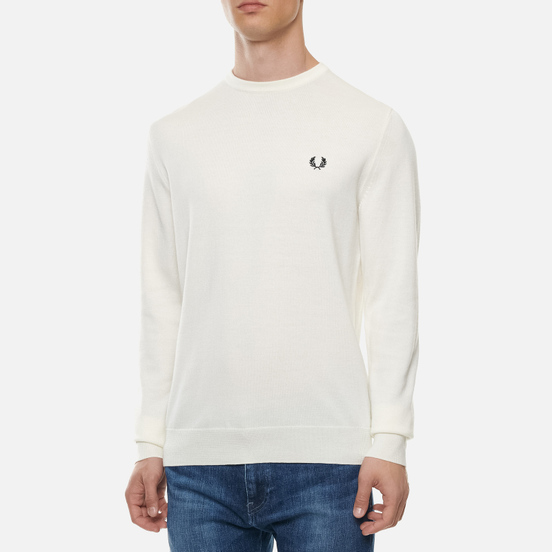Мужской свитер Fred Perry Classic Crew Neck Ecru