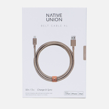 Кабель Native Union Belt Apple Lightning 3m Beige фото- 2