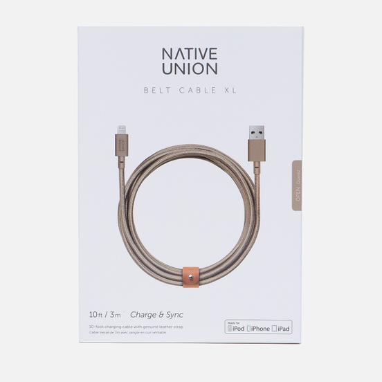 Кабель Native Union Belt Apple Lightning 3m Beige