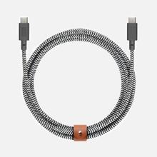 Кабель Native Union Belt USB Type-C/USB Type-C 2.4m Zebra фото- 0