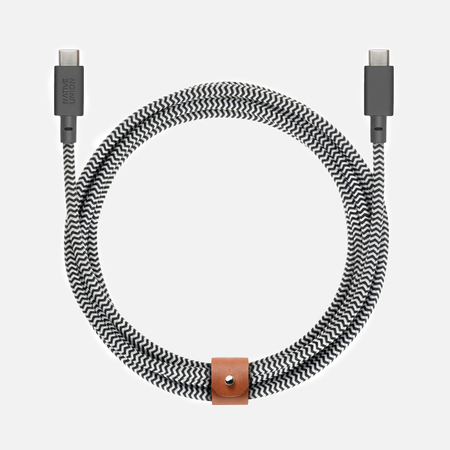Кабель Native Union Belt USB Type-C/USB Type-C 2.4m Zebra