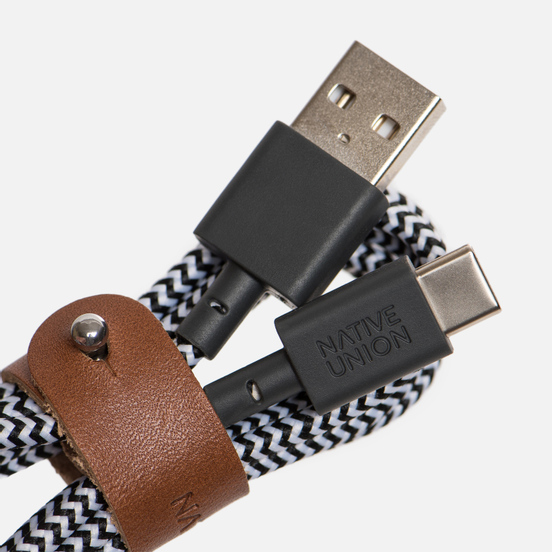 Кабель Native Union Belt USB/USB Type-C 1.2m Zebra