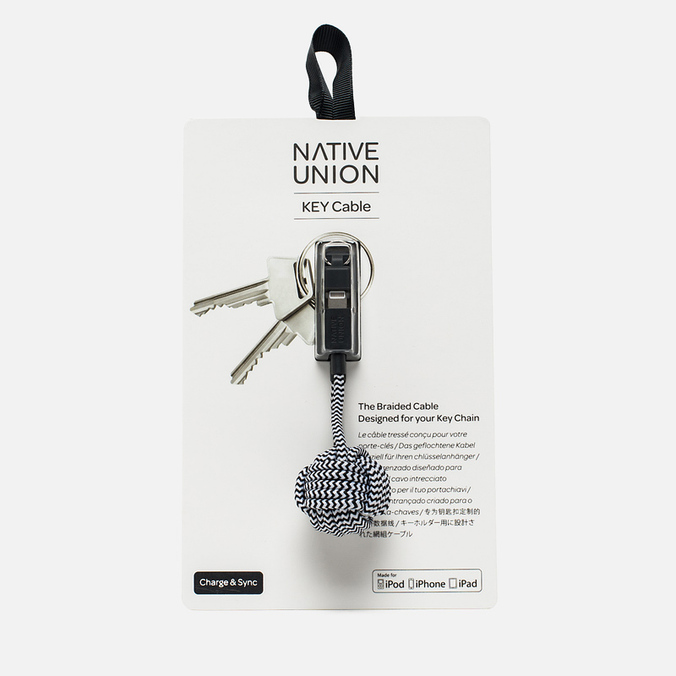 Native Union Key Apple Lightning Cable Zebra