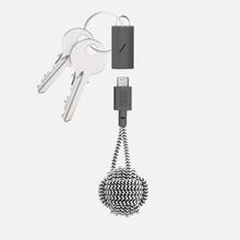 Кабель Native Union Key USB Type-C/Lightning Zebra фото- 0