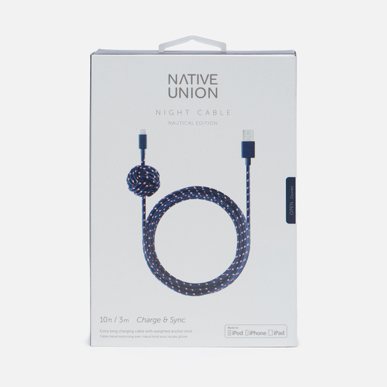 Кабель Native Union Night Apple Lightning 3m Navy Nautical