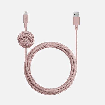 Кабель Native Union Night Apple Lightning 3m Rose