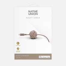Кабель Native Union Night Apple Lightning 3m Taupe фото- 1