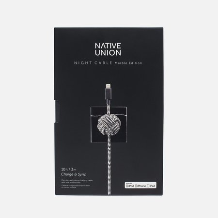 Native Union Night Marble Edition Apple Lightning 3m Cable Black
