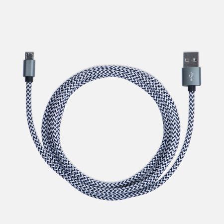 Кабель Rombica Digital AB-04 USB/Micro-USB 2m Dark Grey/Dark Silver