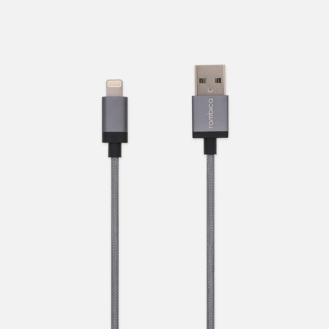 Кабель Rombica Digital IB-03 USB/Lightning 1m Dark Grey