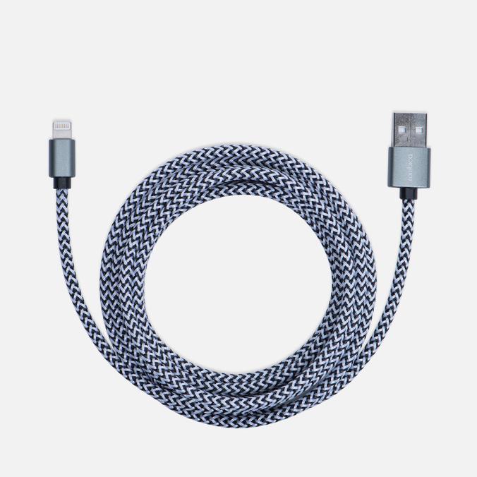 Кабель Rombica Digital IB-04 USB/Lightning 2m Dark Grey/Dark Silver