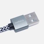 Кабель Rombica Digital IB-04 USB/Lightning 2m Dark Grey/Dark Silver фото- 1