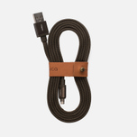 Кабель Rombica Link USB/Lightning 1.5m Olive фото- 0