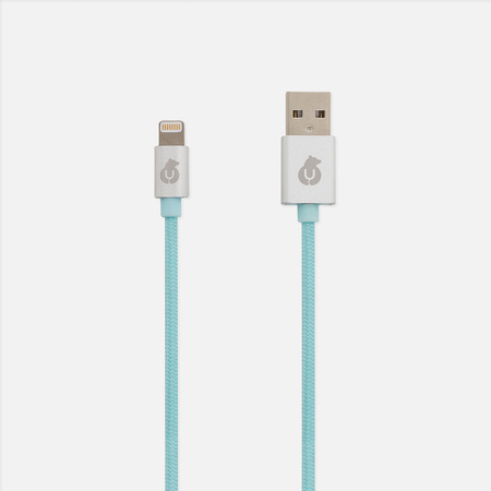 Кабель uBear MFI Lightning USB 1m Light Blue