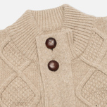 Barbour Kirktown Cable Button Men's Cardigan Stone photo- 1