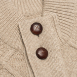 Barbour Kirktown Cable Button Men's Cardigan Stone photo- 2