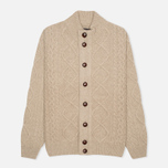 Barbour Kirktown Cable Button Men's Cardigan Stone photo- 0