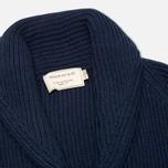 Мужской кардиган Maison Kitsune Rib Wool Dark Blue Melange фото- 1