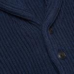 Мужской кардиган Maison Kitsune Rib Wool Dark Blue Melange фото- 2