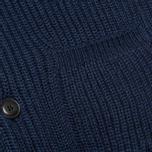 Мужской кардиган Maison Kitsune Rib Wool Dark Blue Melange фото- 3