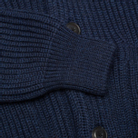 Мужской кардиган Maison Kitsune Rib Wool Dark Blue Melange фото- 4